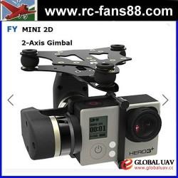 UAV feiyu Tech FY MiNi2D 2-Axle Brushless Gimbal For Gopro4 Gopro3+ Gopro3 Sport Camera toy drone